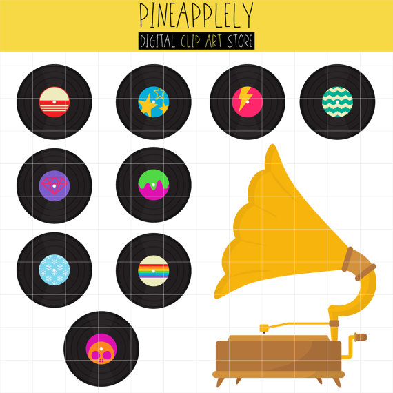 Record Player clipart phonograph Stickers Journal Antique Vintage Vintage