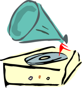 Record Player clipart phonograph #15