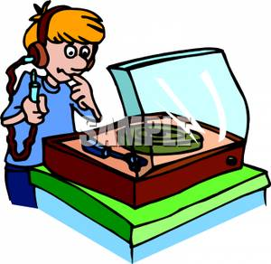 Record Player clipart phonograph Clipart Them Player Old Into
