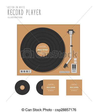 Record Player clipart top view Top record flat record and