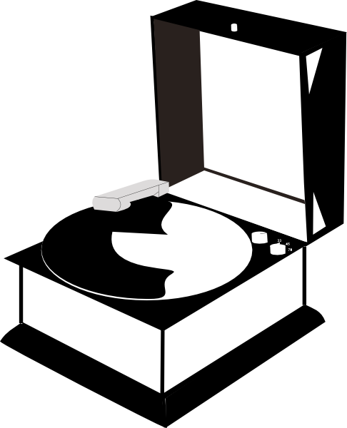 Record Player clipart transparent Clip  Clker art this
