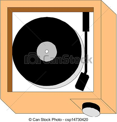 Record Player clipart vector #3