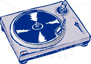 Record Player clipart vector #1