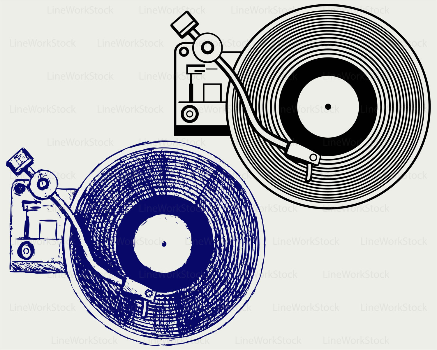 Record Player clipart vector Player file player clipart digital
