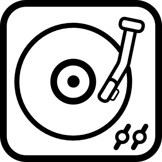 Record Player clipart vector #8