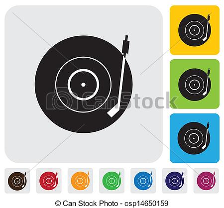 Record Player clipart vector Illustration symbol(icon) vector of player(turntable)