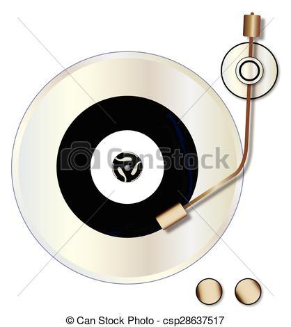 Record Player clipart vinyl record #2