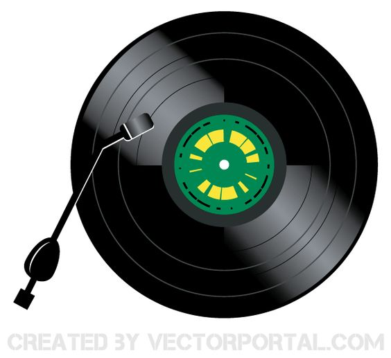 Record Player clipart vinyl record Of • The Vector Pinterest