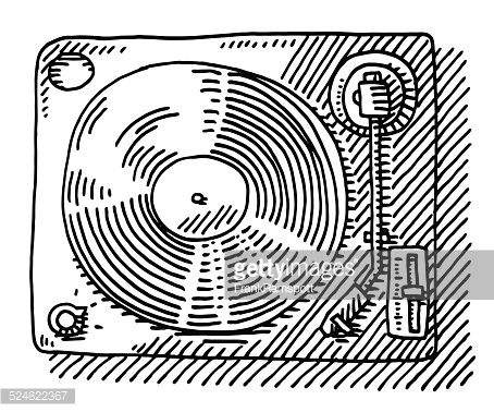 Record Player clipart vinyl record About Drawing 36 Player Above