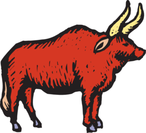 Red Bull clipart bull horn Art vector Art Stylized at