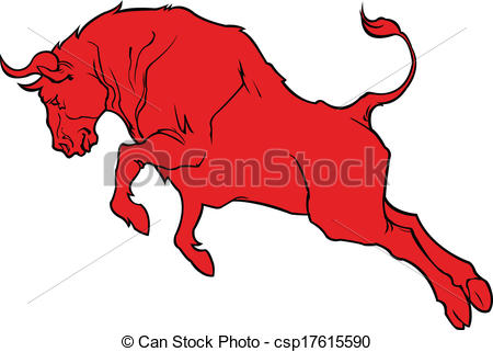 Red Bull clipart bull horn Red EPS Vector busy red