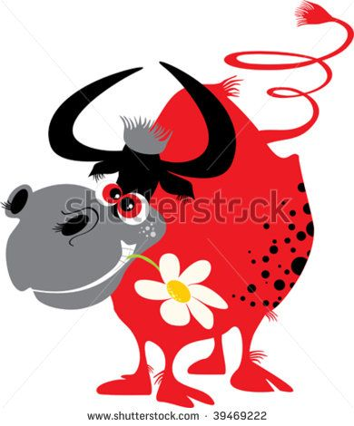 Red Bull clipart alternate OX about images with flower