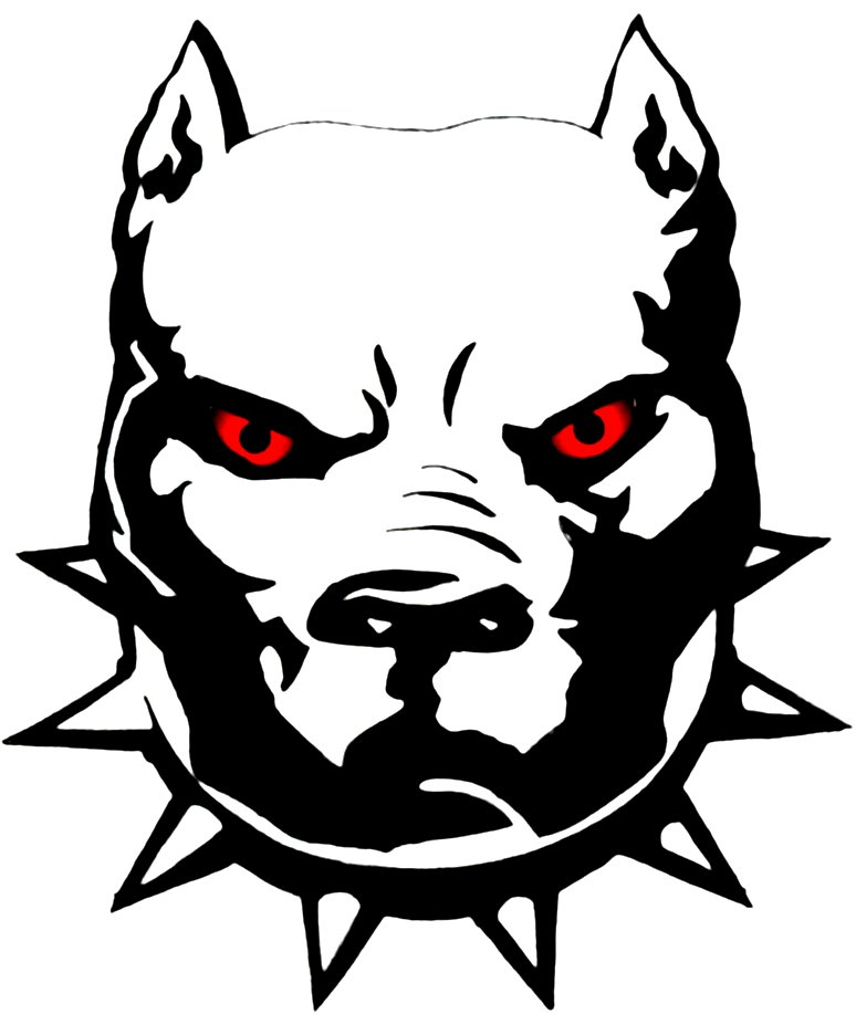 Pit Bull clipart black and white Sticker with and Pitbull