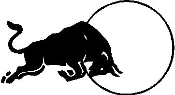 Red Bull clipart black and white Logo 05 05 Decal Bull