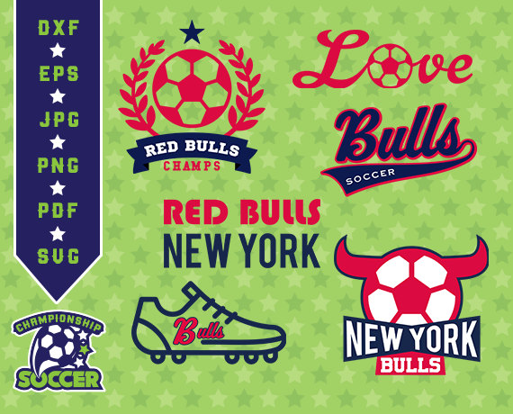 Red Bull clipart blue Clipart Red Soccer SVG New