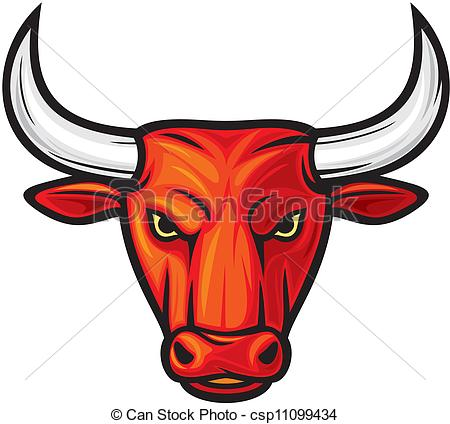 Red Bull clipart buffalo head #1
