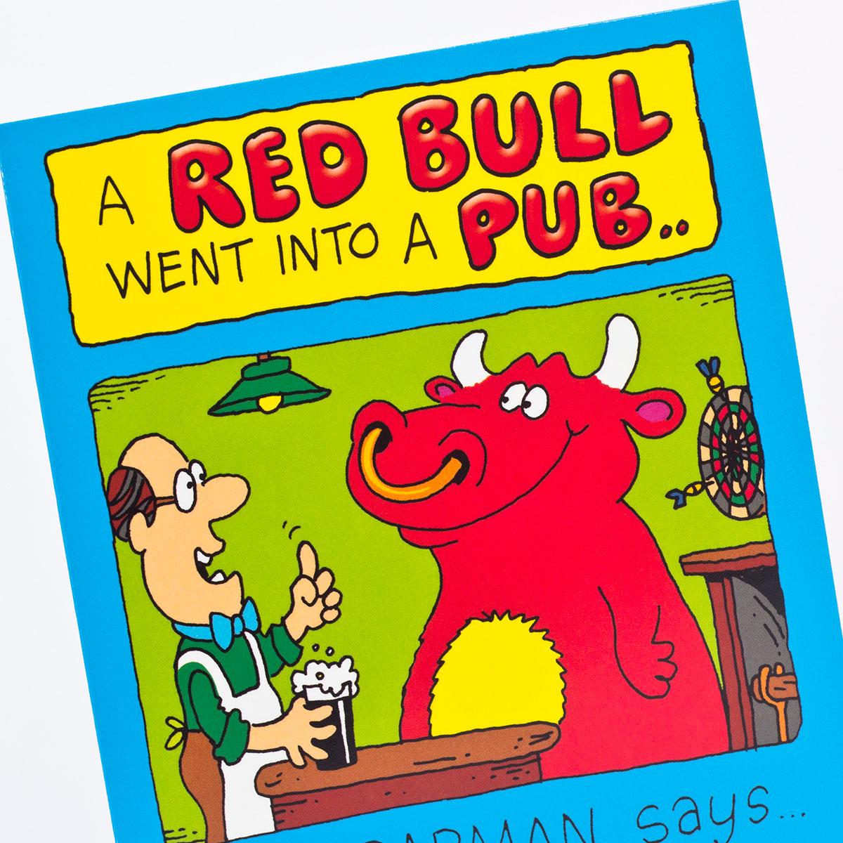 Red Bull clipart bul £1 Card Birthday  Bull