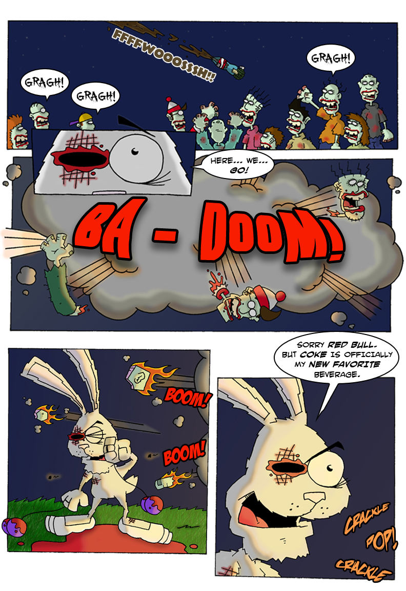 Red Bull clipart comic Versus Zombies up!!  But