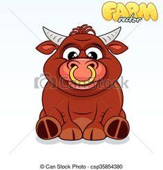 Red Bull clipart cute Clip Red bull Bull Cute