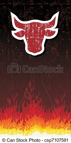 Red Bull clipart fire #7