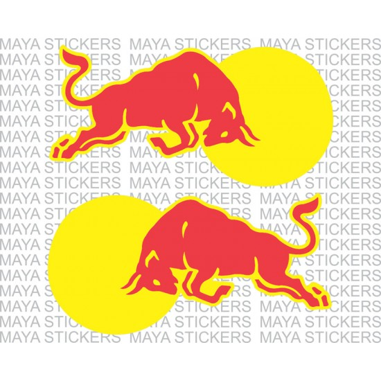 Red Bull clipart indian Red stickers of cars for