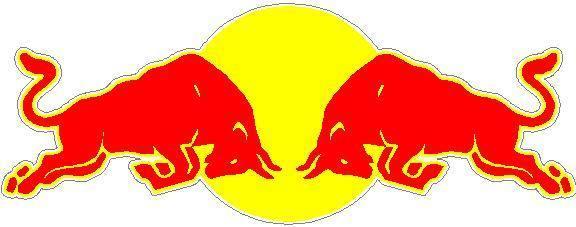 Red Bull clipart outline Full Logo Bull Full Decals