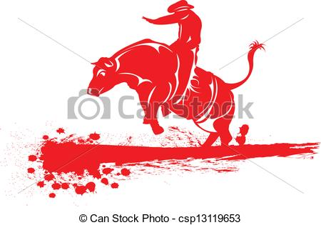 Red Bull clipart rodeo bull Rodeo Rodeo bull Clipart riding