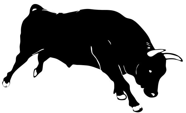 Red Bull clipart silhouette Clipart Bull Art Free Bull