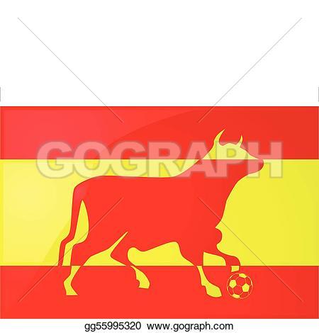 Red Bull clipart spanish bull Spanish and on Illustration bull