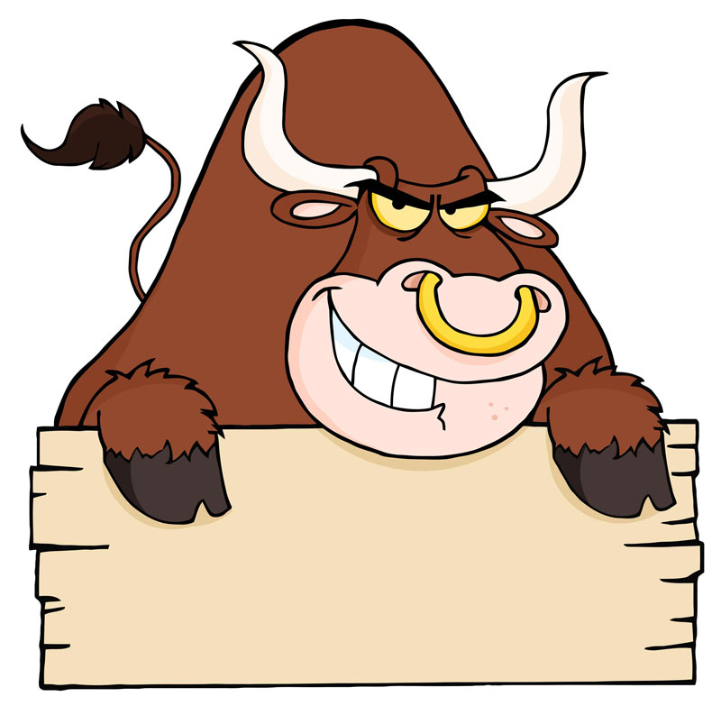 Taurus clipart cartoon Free mad vector bull art