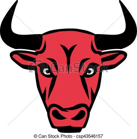 Red Bull clipart vector Clip Art  Bull csp43546157
