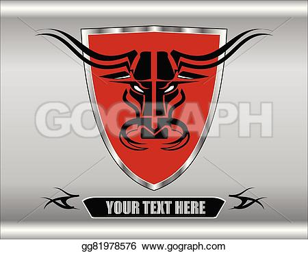 Red Bull clipart wild bull With Stylized artistic Clipart over