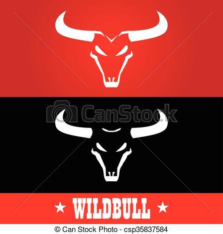 Red Bull clipart wild bull The for  Vector bulls