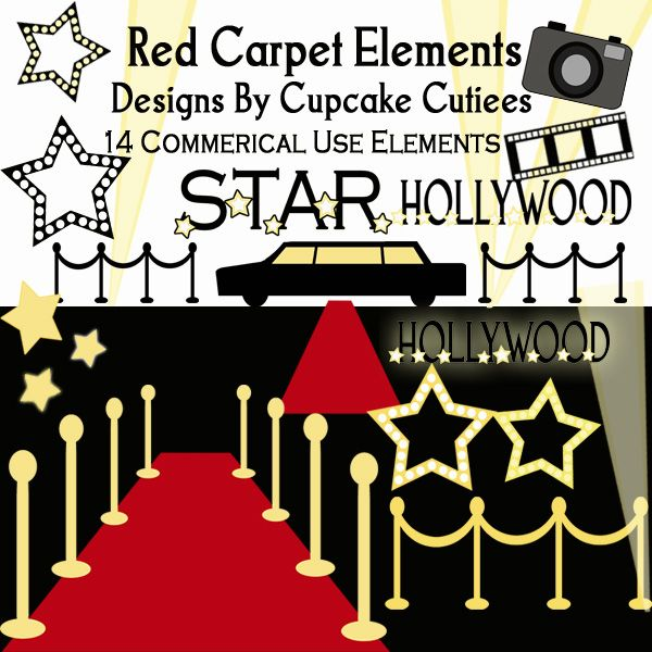 Red Carpet clipart border #5