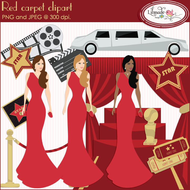Oscar clipart grammy Clipart Red carpet Hollywood ceremony