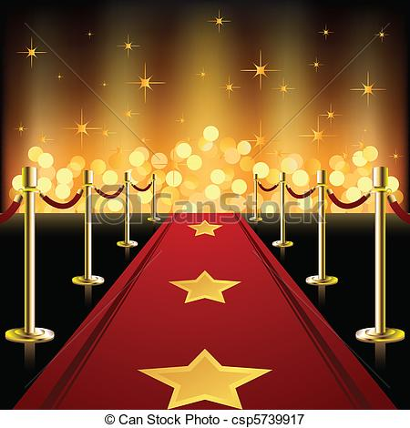 Red Carpet clipart hollywood light Carpet Illustration csp5739917 Red Red