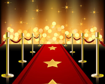 Red Carpet clipart hollywood spotlight #3