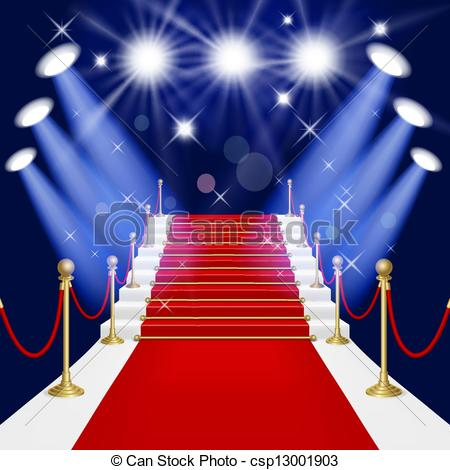 Red Carpet clipart hollywood spotlight #2