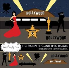 Oscar clipart grammy Hollywood clipart Graphics  and