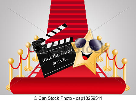 Carpet clipart hollywood red carpet For Red csp18259511 Oscars award