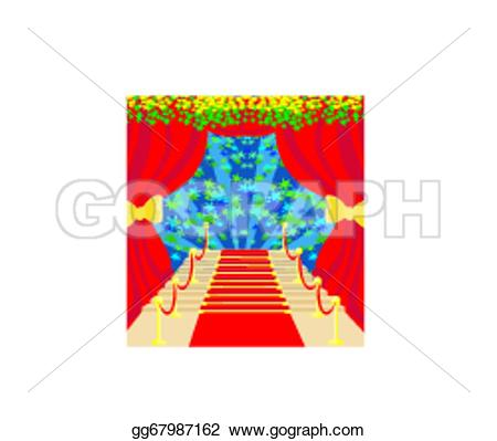 Red Carpet clipart symbol Clip Stock on a Art