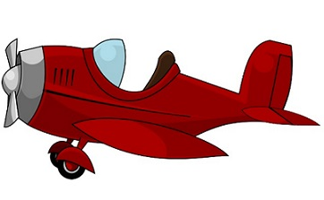 Red clipart aeroplane #12
