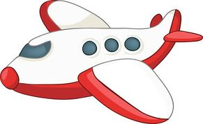 Red clipart aeroplane #14