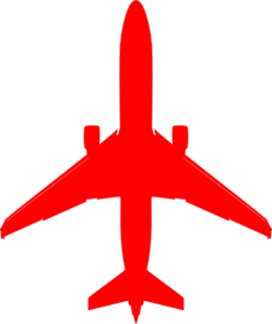 Red clipart aeroplane #13