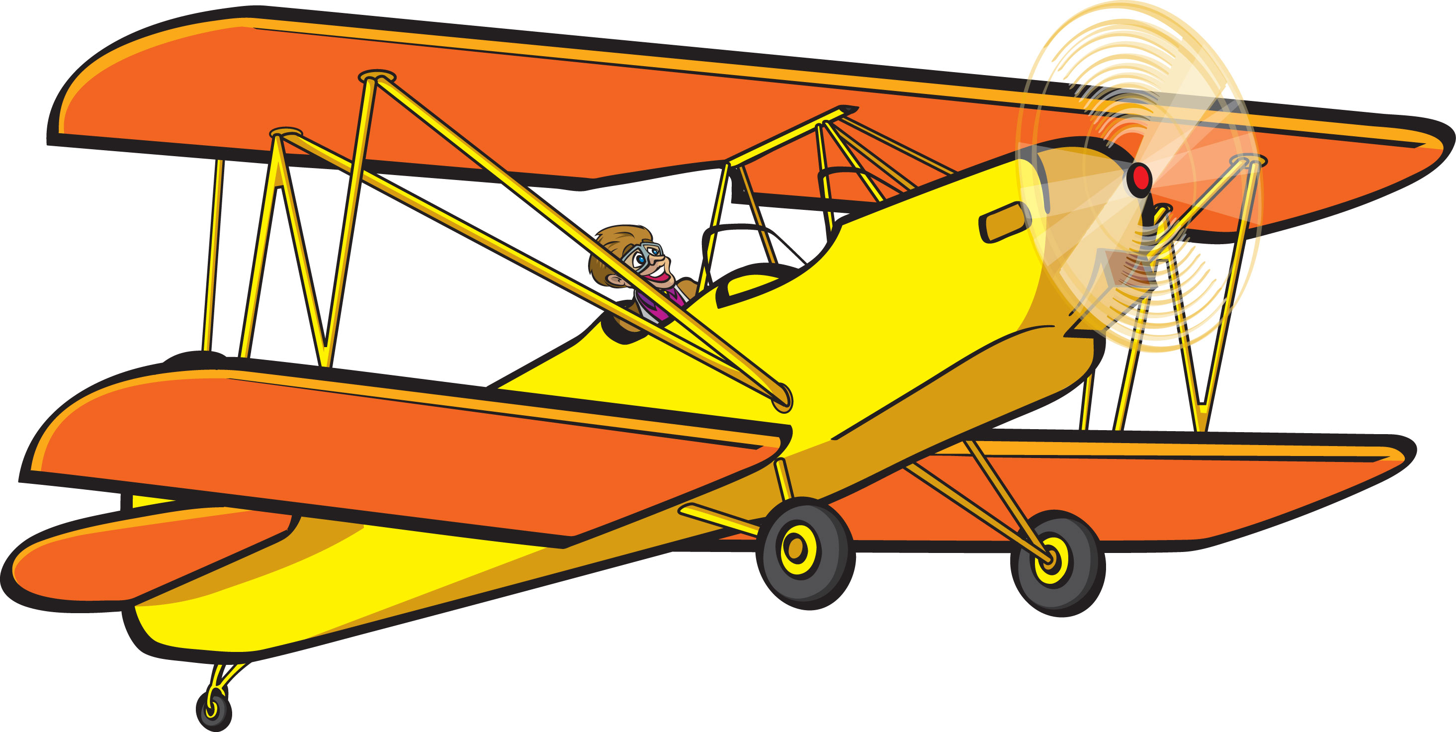 Airplane clipart biplane Clipartoons Clipart Image Art Biplane
