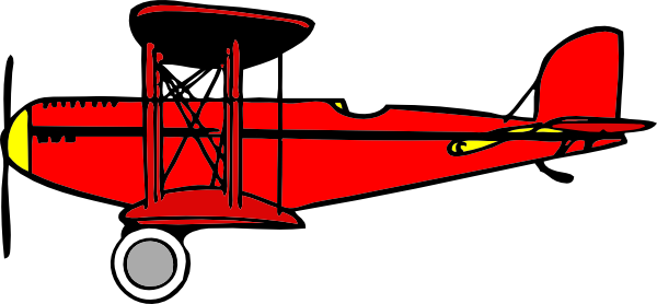 Airplane clipart biplane Clip com this image art