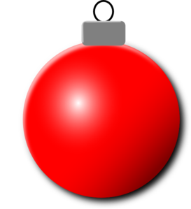 Red clipart christmas ball #10