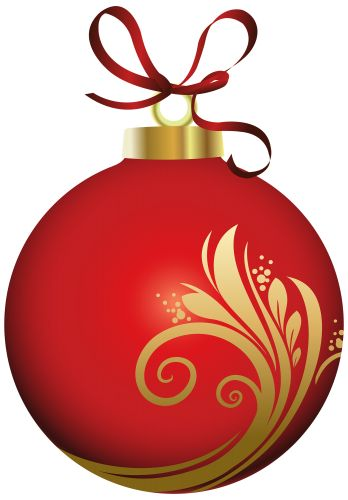 Red clipart christmas ball #13