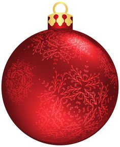 Red clipart christmas ball #7