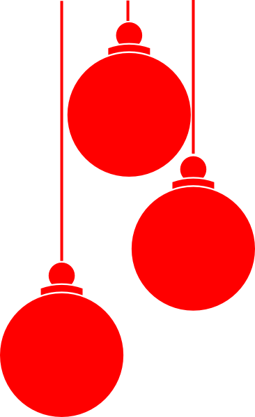Decoration clipart holiday ornament Art Red at christmas collection